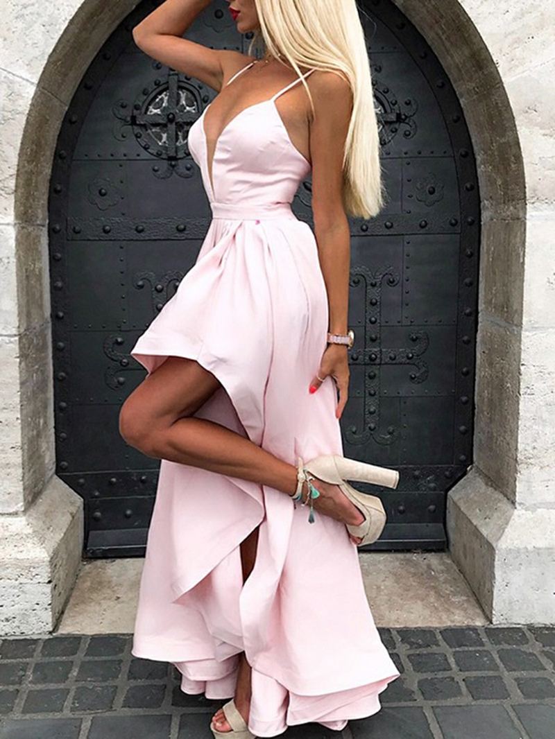 Ericdress Spaghetti Straps High Low Bridesmaid Dress