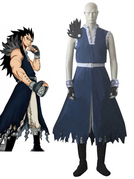 Milanoo Fairy Tail Dragon Slayer Gajeel Redfox  Cosplay Costume