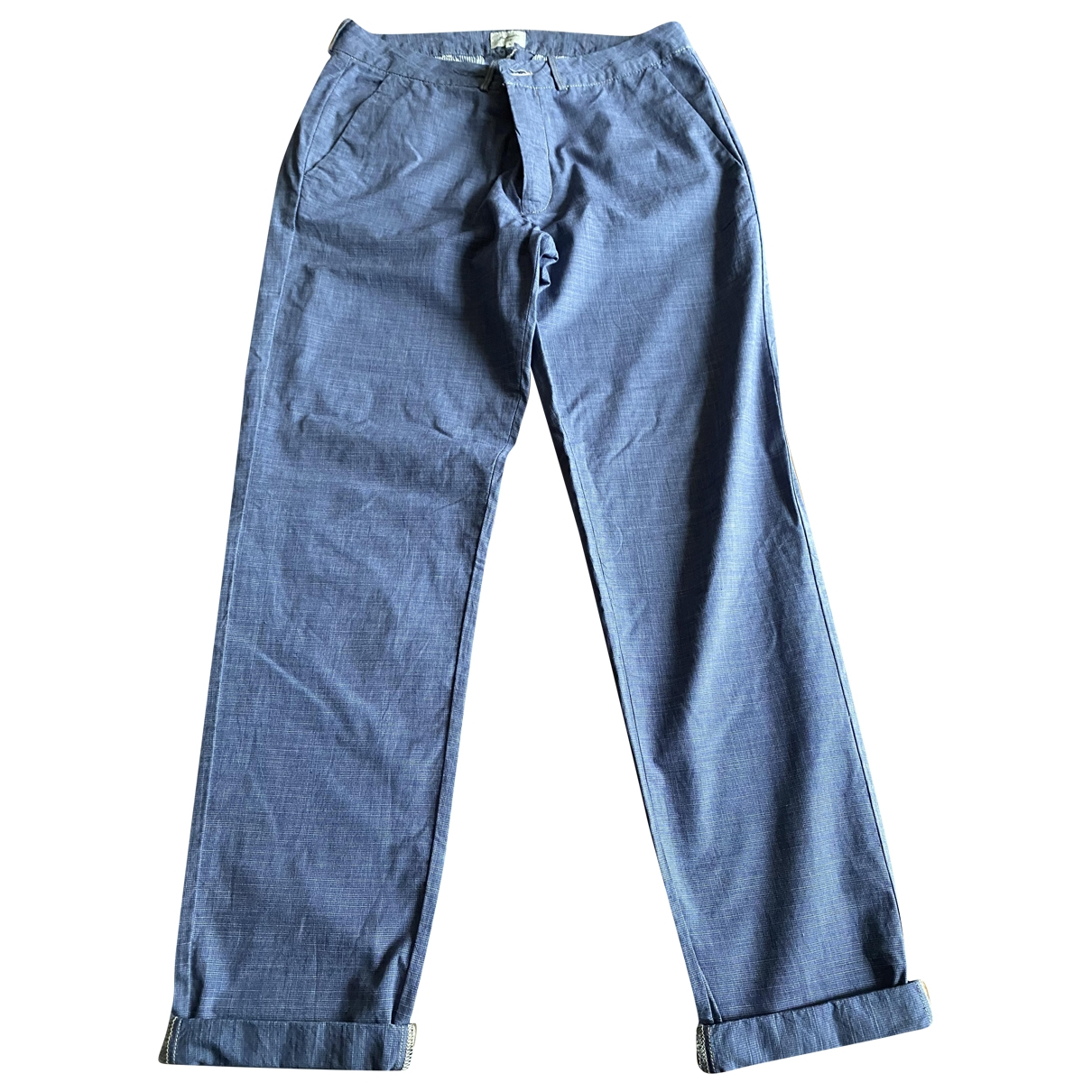 Bellerose \N Blue Cotton Trousers for Women 42 IT