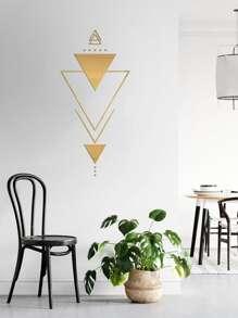 1set Geometry Mirror Surface Wall Sticker