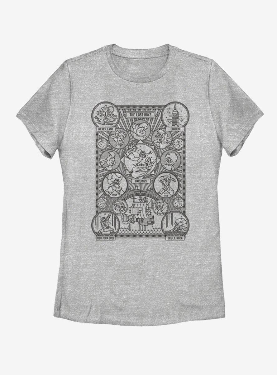 Disney Peter Pan Hangmans Character Tree Womens T-Shirt
