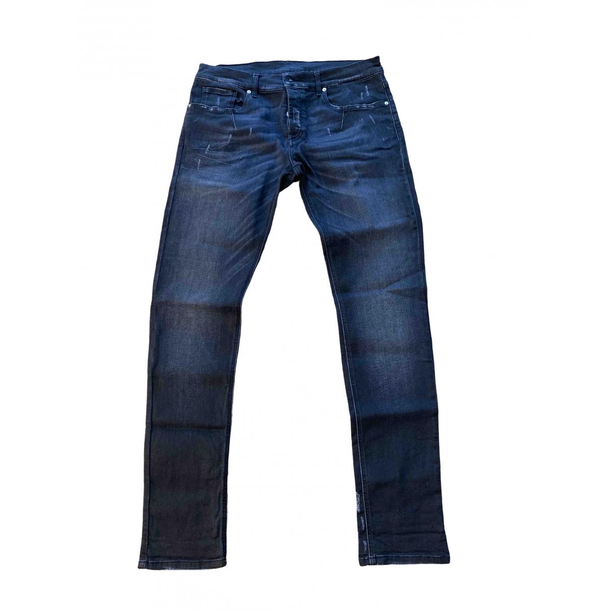 Les Hommes \N Anthracite Cotton Jeans for Men 36 US