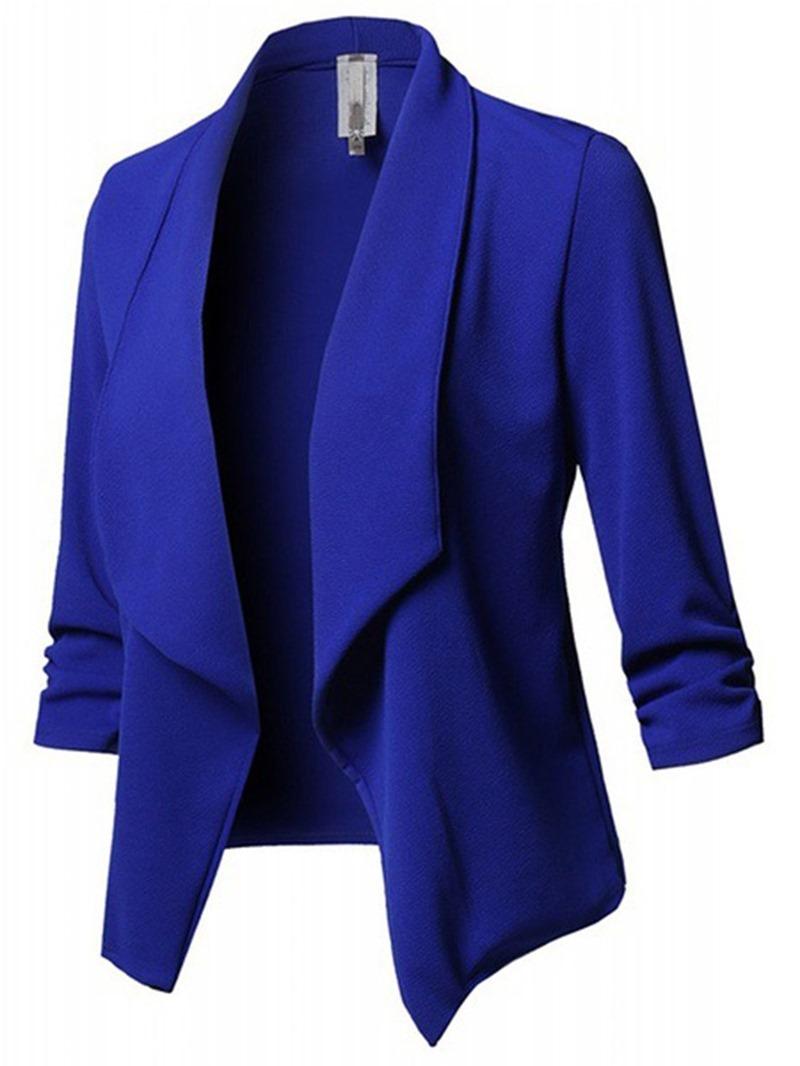 Ericdress Plain Long Sleeve Standard Regular Casual Blazer