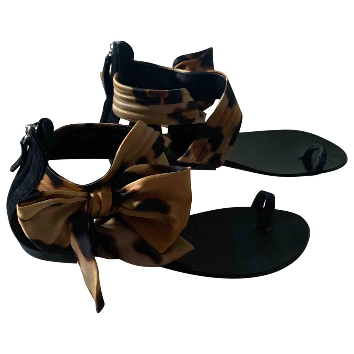 Giuseppe Zanotti \N Black Cloth Sandals for Women 39 IT