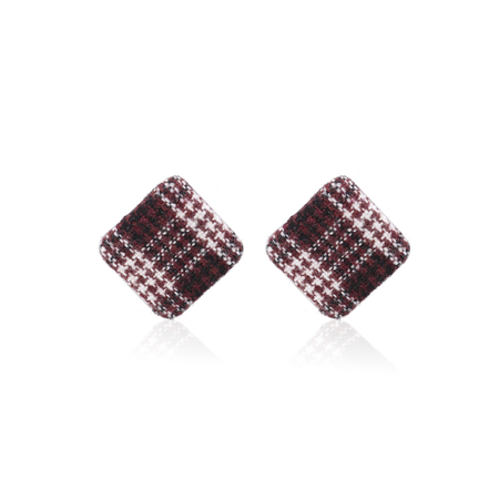Yoins Red Diamond Shaped Button Stud Earrings