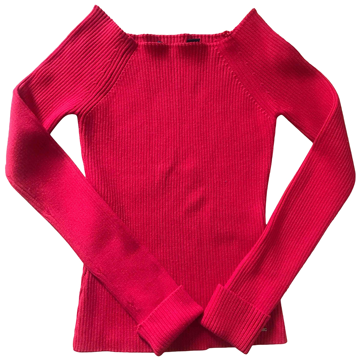 Non Signé / Unsigned \N Red Cotton Knitwear for Women XS International