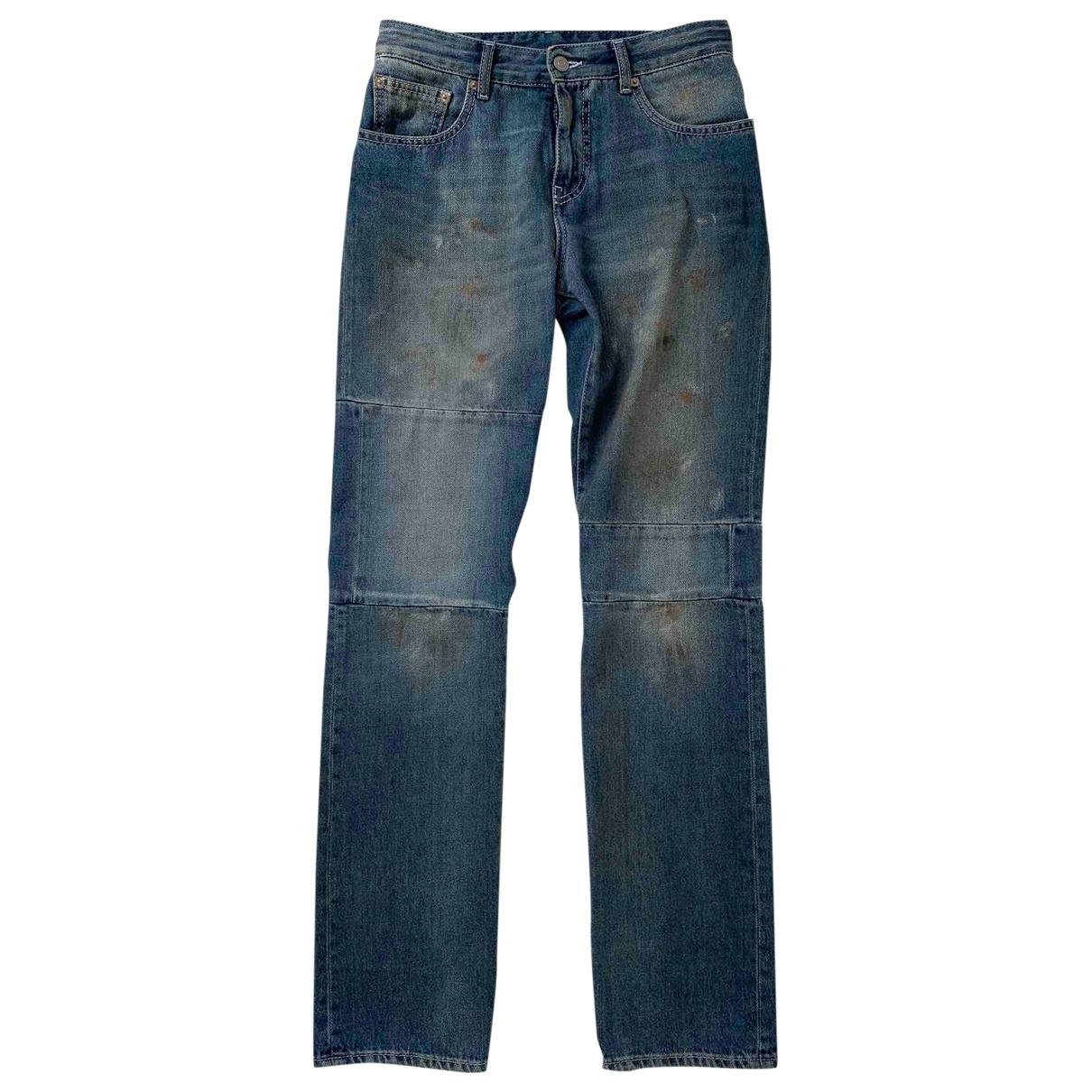 Maison Martin Margiela \N Blue Denim - Jeans Jeans for Women 38 FR