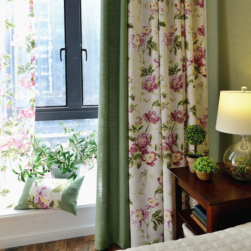 Polyester Material Jacquard Technics Mildew Resistant Curtain Sets