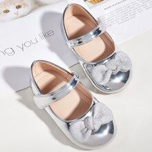 Toddler Girls Metallic Mary Jane Flats