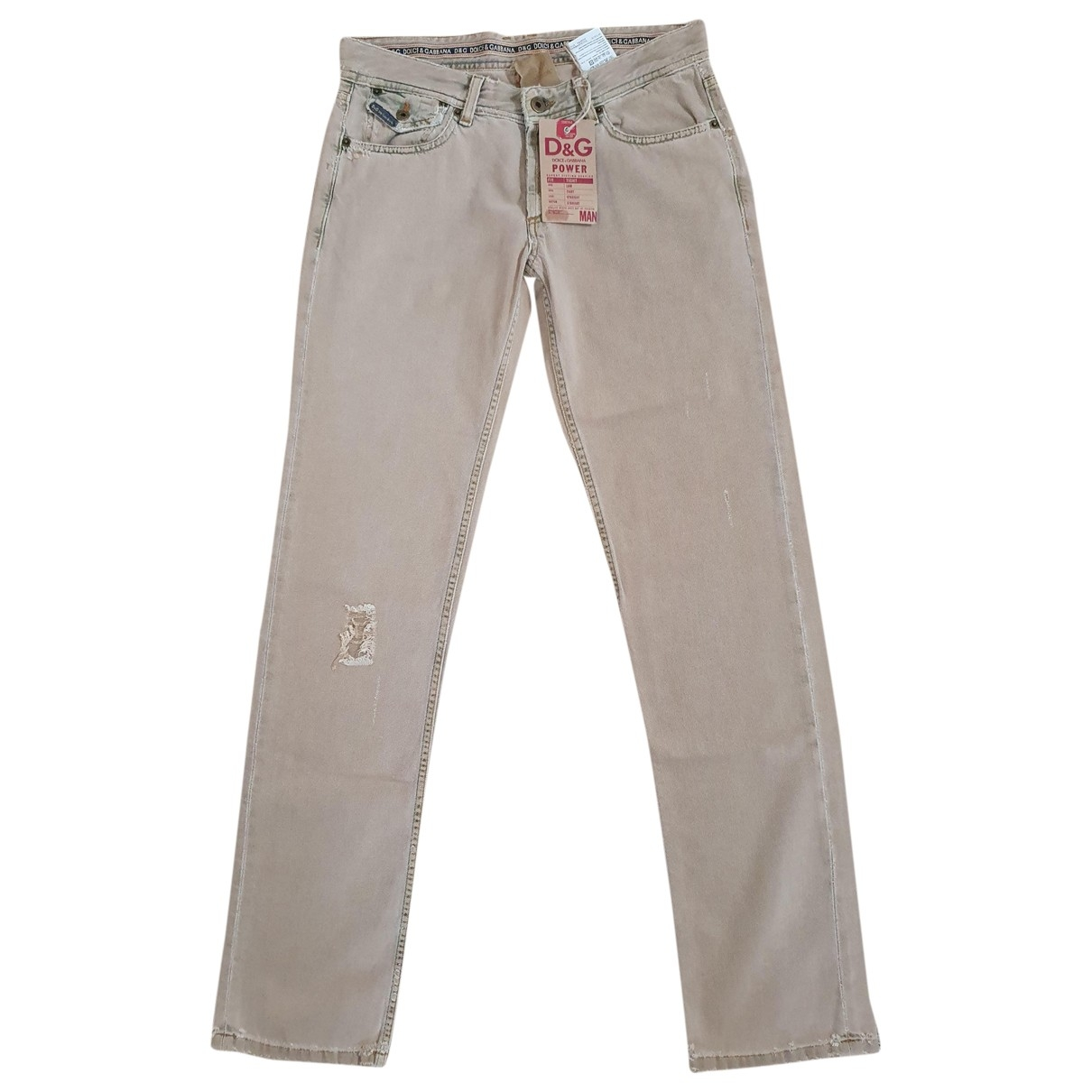 D&g \N Beige Cotton Jeans for Men 32 US