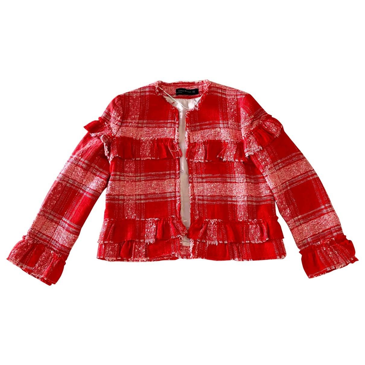 Zara \N Red Cotton jacket for Women S International
