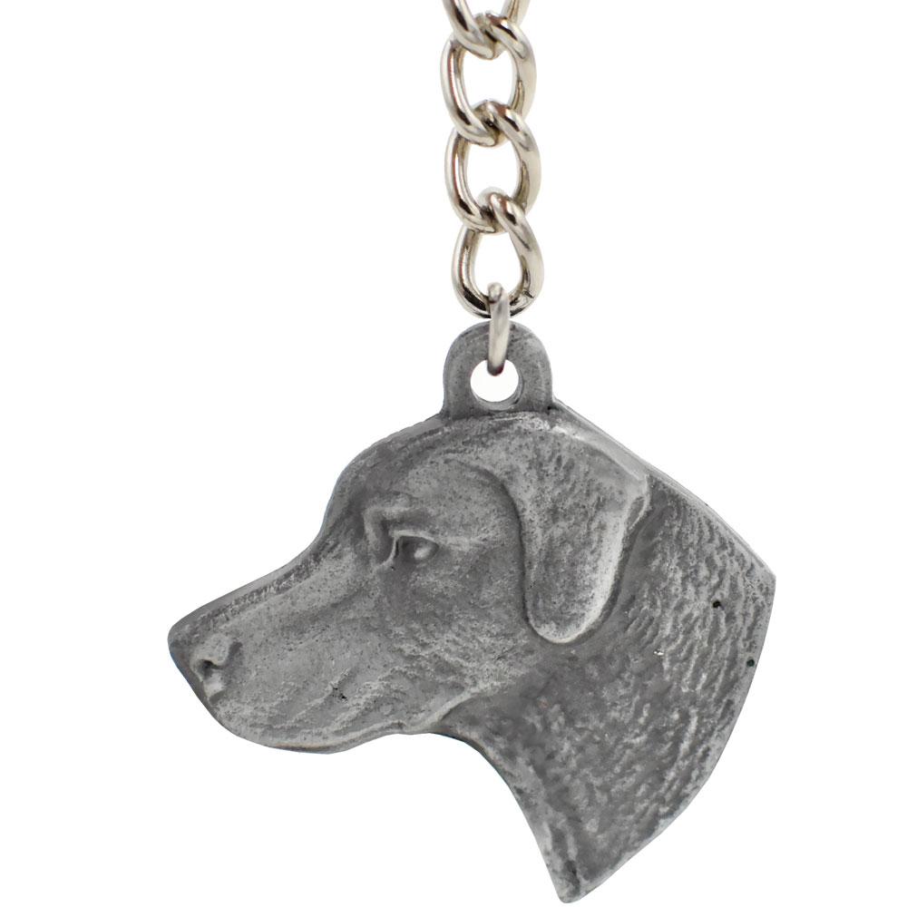 Dog Breed Keychain USA Pewter - Chesapeake Bay Retriever (2.5