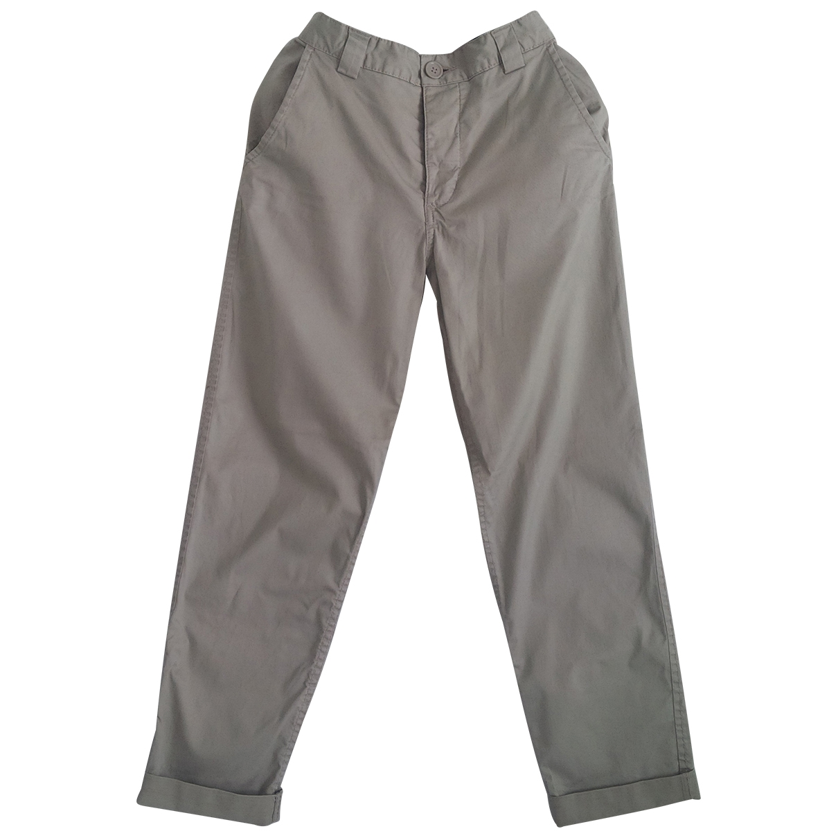 Non Signé / Unsigned \N Khaki Cotton Trousers for Women XS International