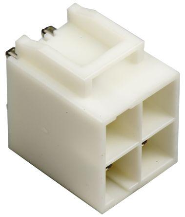 JST , VL, B04P, 4 Way, 2 Row, Straight PCB Header (5)