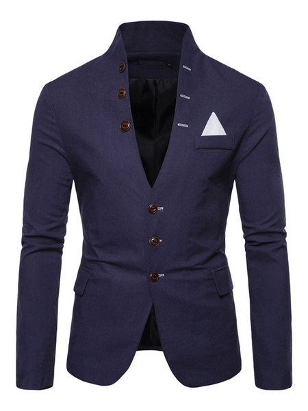 Milanoo Men Single Breasted Suits Jackets
