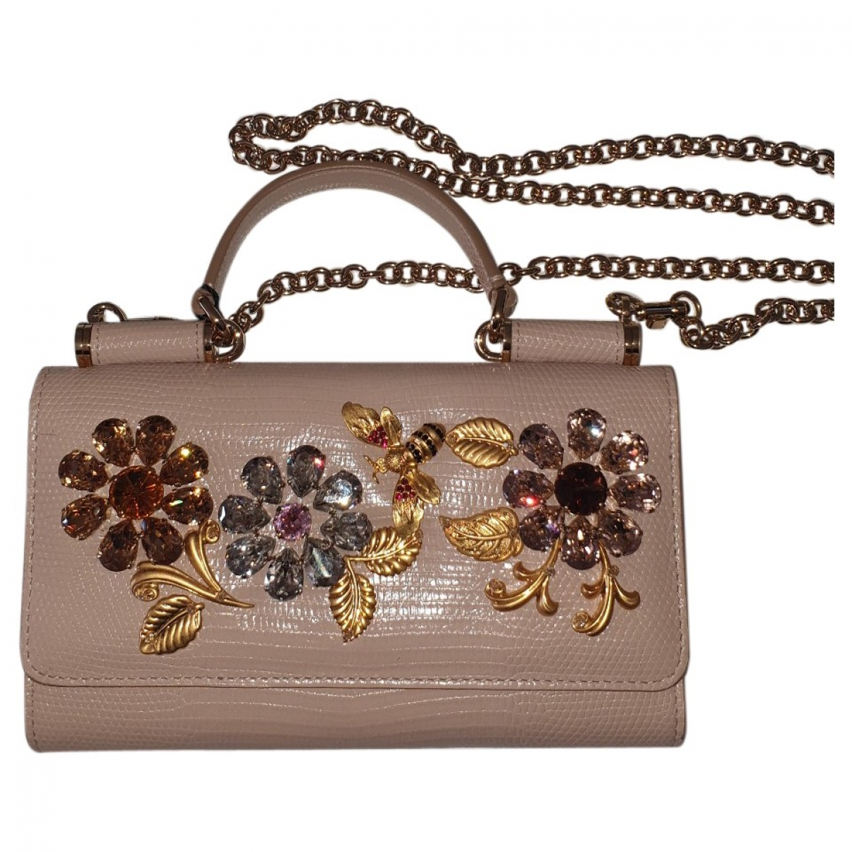 Dolce & Gabbana Sicily Pink Leather Clutch bag for Women \N