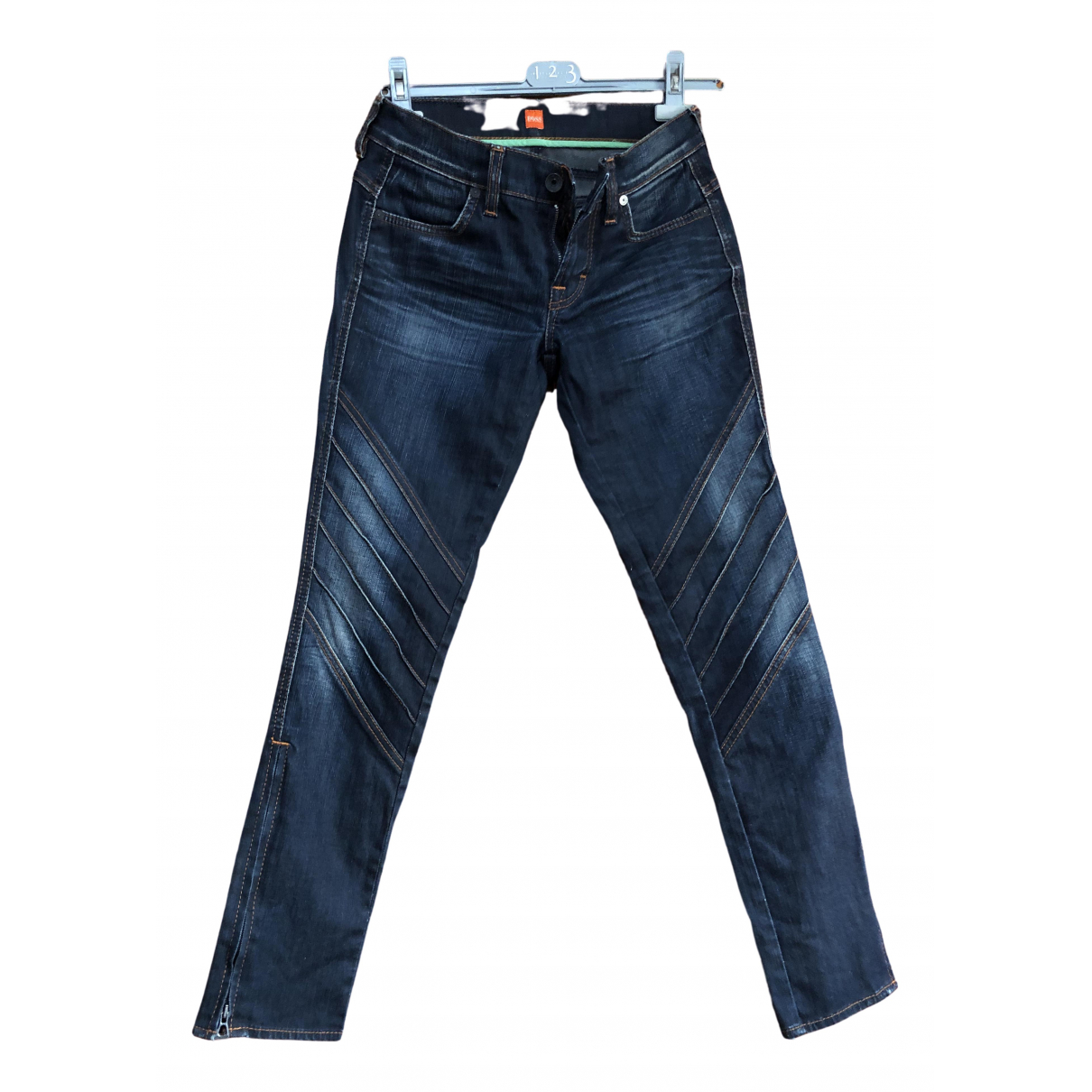 Boss \N Blue Cotton - elasthane Jeans for Women 38 FR