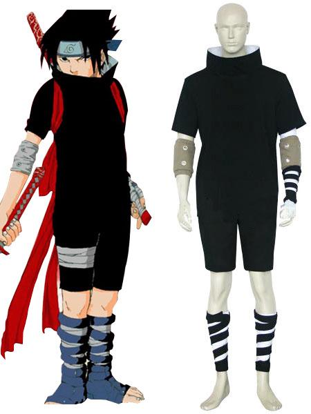 Milanoo Naruto Uchiha Sasuke Halloween Cosplay Costume Halloween
