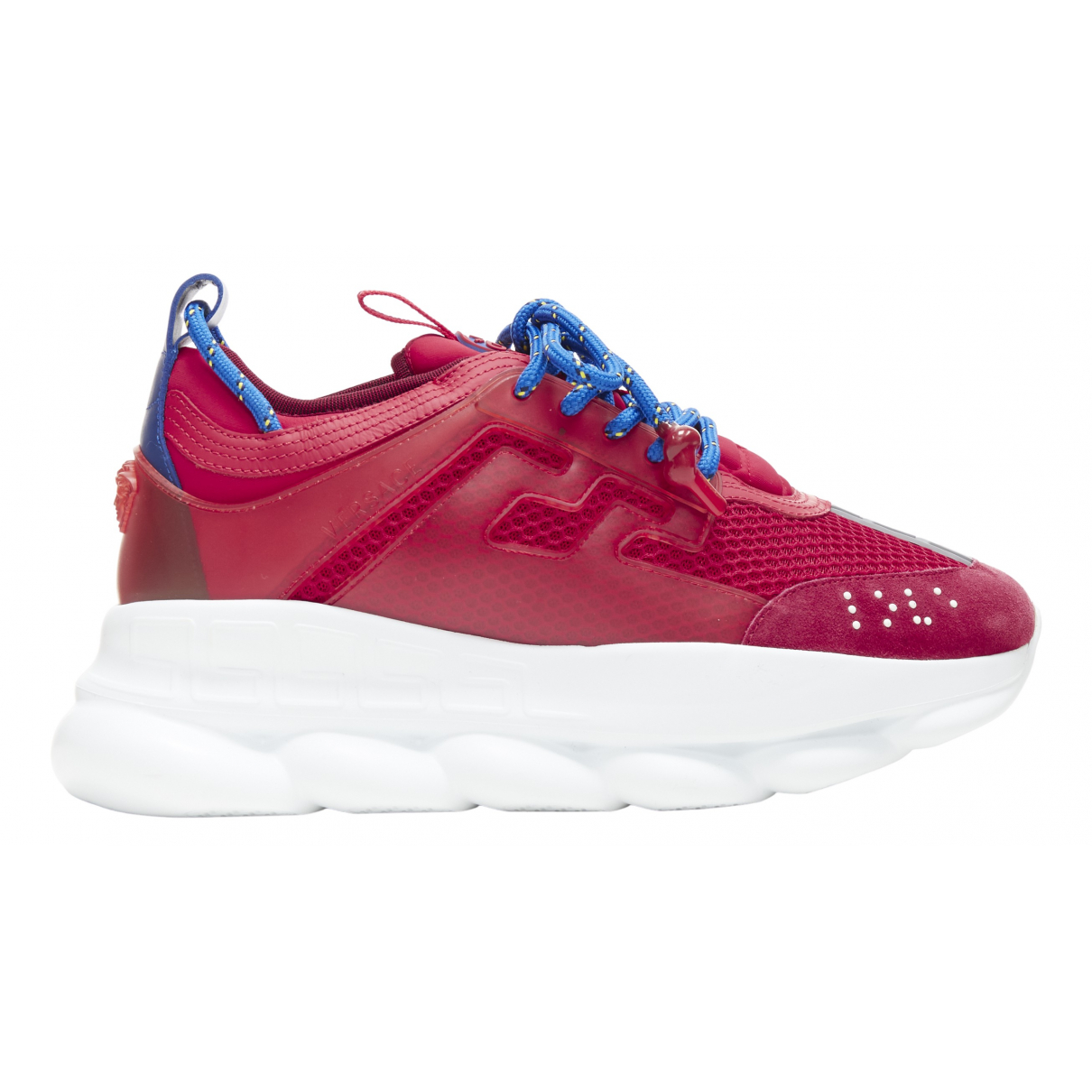 Versace Chain Reaction Red Rubber Trainers for Men 42 EU