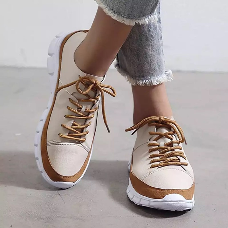 Ericdress Round Toe Thread Low-Cut Upper Color Block Sneakers