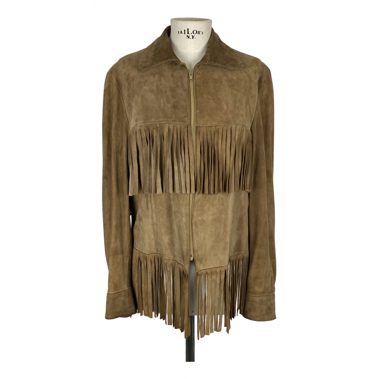 Non Signé / Unsigned \N Camel Suede jacket for Women S International