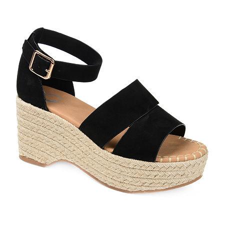 Journee Collection Womens Takara Pumps Block Heel, 8 1/2 Medium, Black