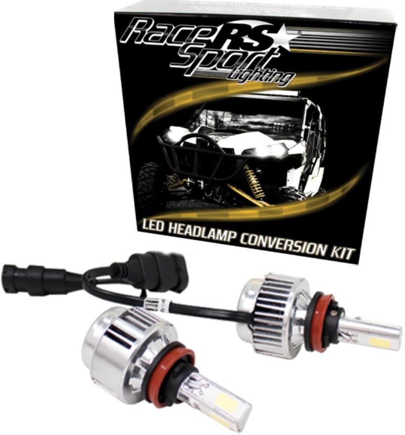 Race Sport Lighting H10LED3S H10 3-Sided Driverless LED Headlight Kit 2,000LUX OEM Kelvin Color