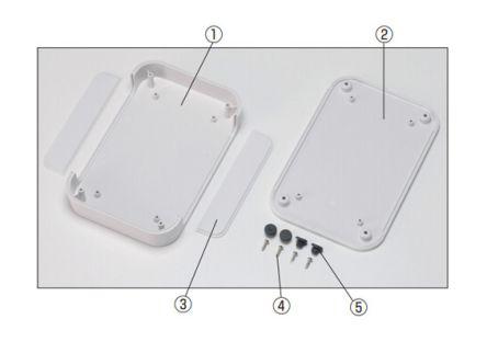Takachi Electric Industrial PF, Grey ABS Enclosure, IP40, 150 x 150 x 30mm
