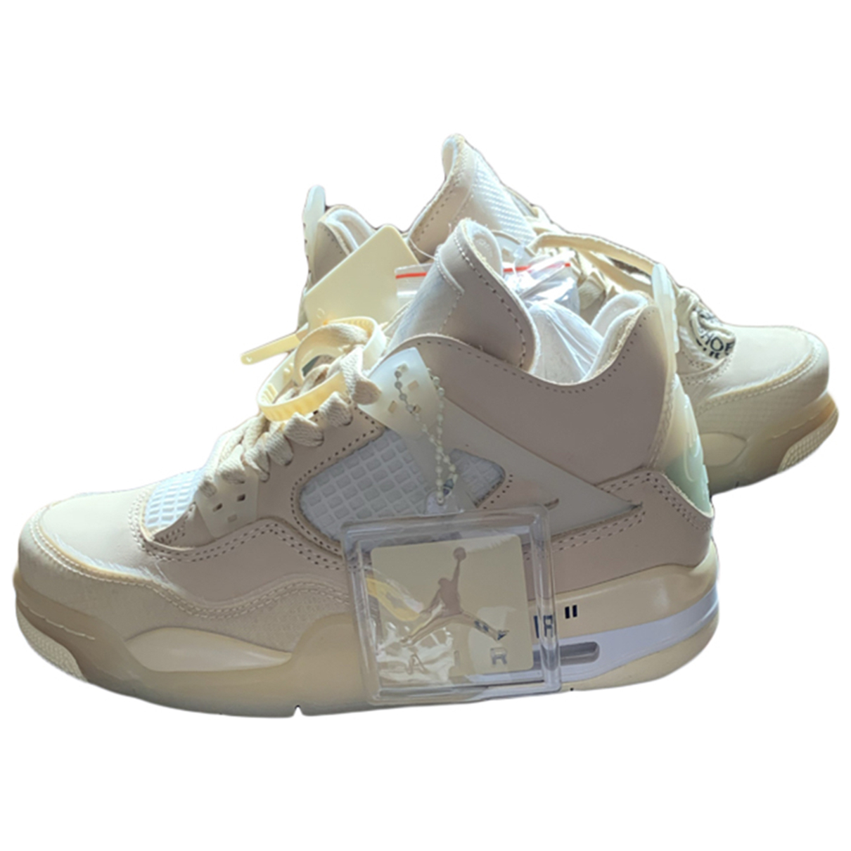 Nike X Off-white Air Jordan 4 Beige Suede Trainers for Women 3.5 UK