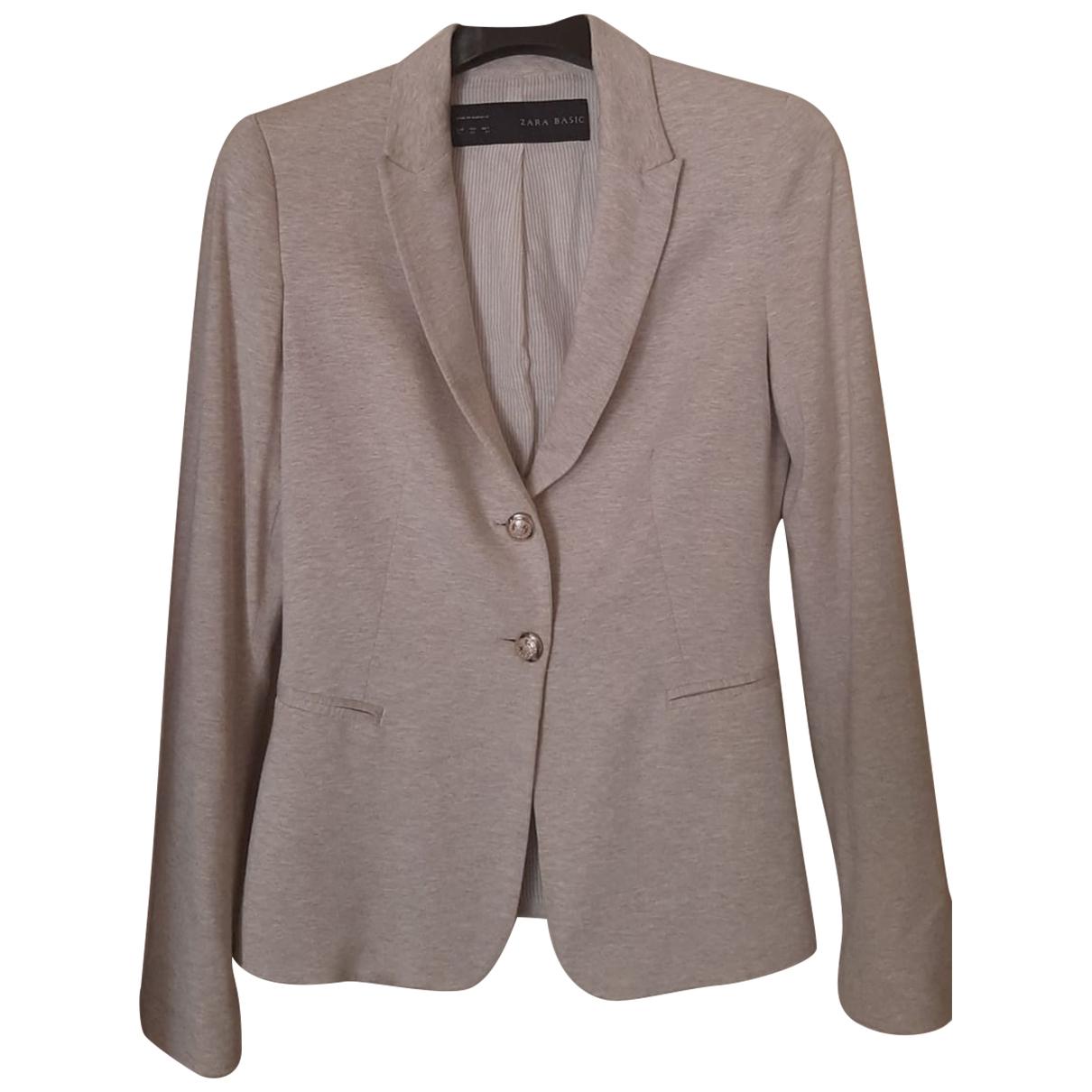 Zara \N Beige Cotton jacket for Women XS International