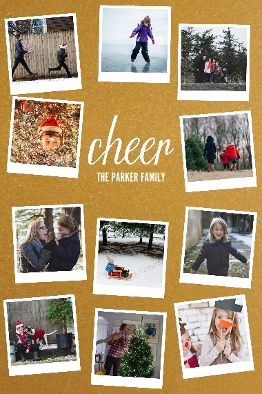 Holiday 12x18 Adhesive Poster, Home Décor -Cheer Snapshots
