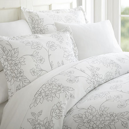 Ienjoy Home Casual Comfort Premium Ultra Soft Vine Pattern Duvet Cover Set, One Size , Gray