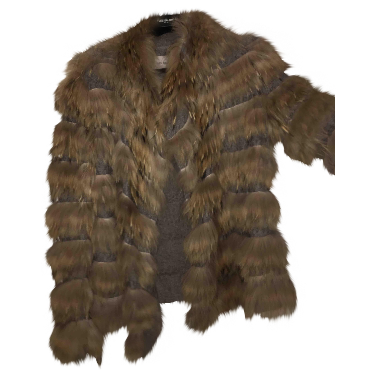 Yves Salomon \N Grey Fox coat for Women 36 FR