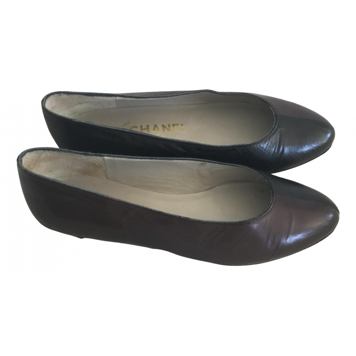 Chanel \N Black Leather Ballet flats for Women 37.5 EU