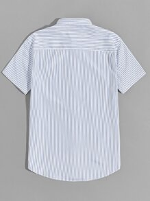 Men Short Sleeve Striped Shirt