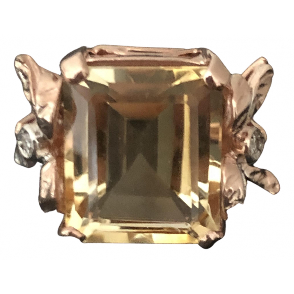 Non Signé / Unsigned \N Yellow Pink gold ring for Women 54 EU