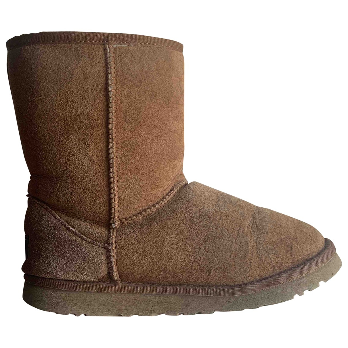 Ugg \N Camel Leather Ankle boots for Women 37 EU