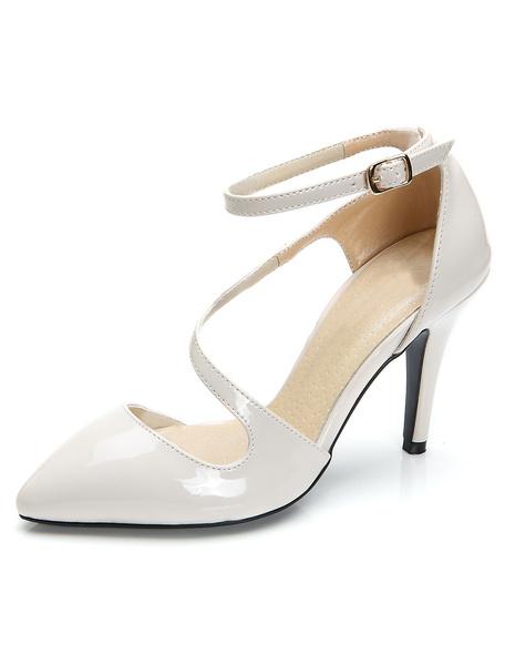 Milanoo Patent Patent PU Upper Sexy Pointy Toe Heels