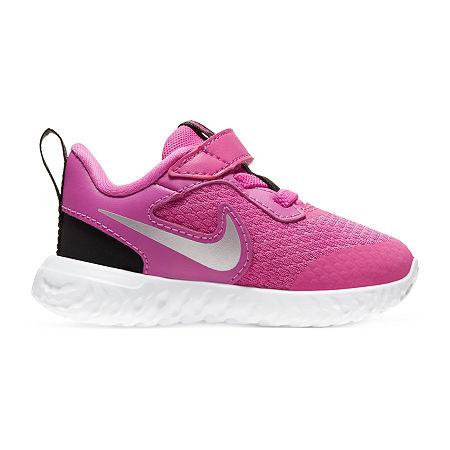 Nike Revolution 5 Toddler Girls Running Shoes, 6 Medium, Red