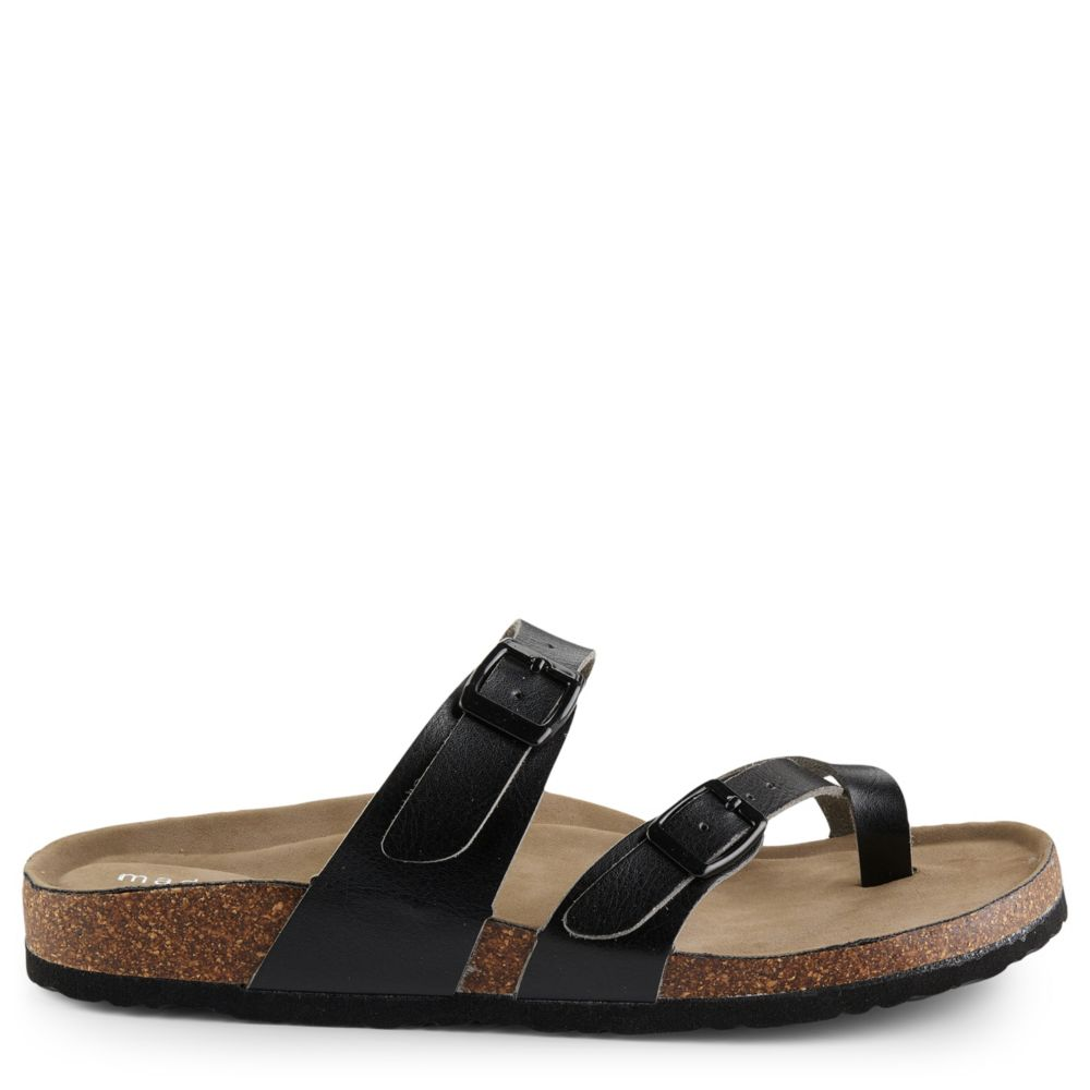 Madden Girl Womens Bryceee Footbed Slide Sandal