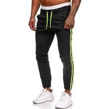 Men Side Stripe Drawstring Pants