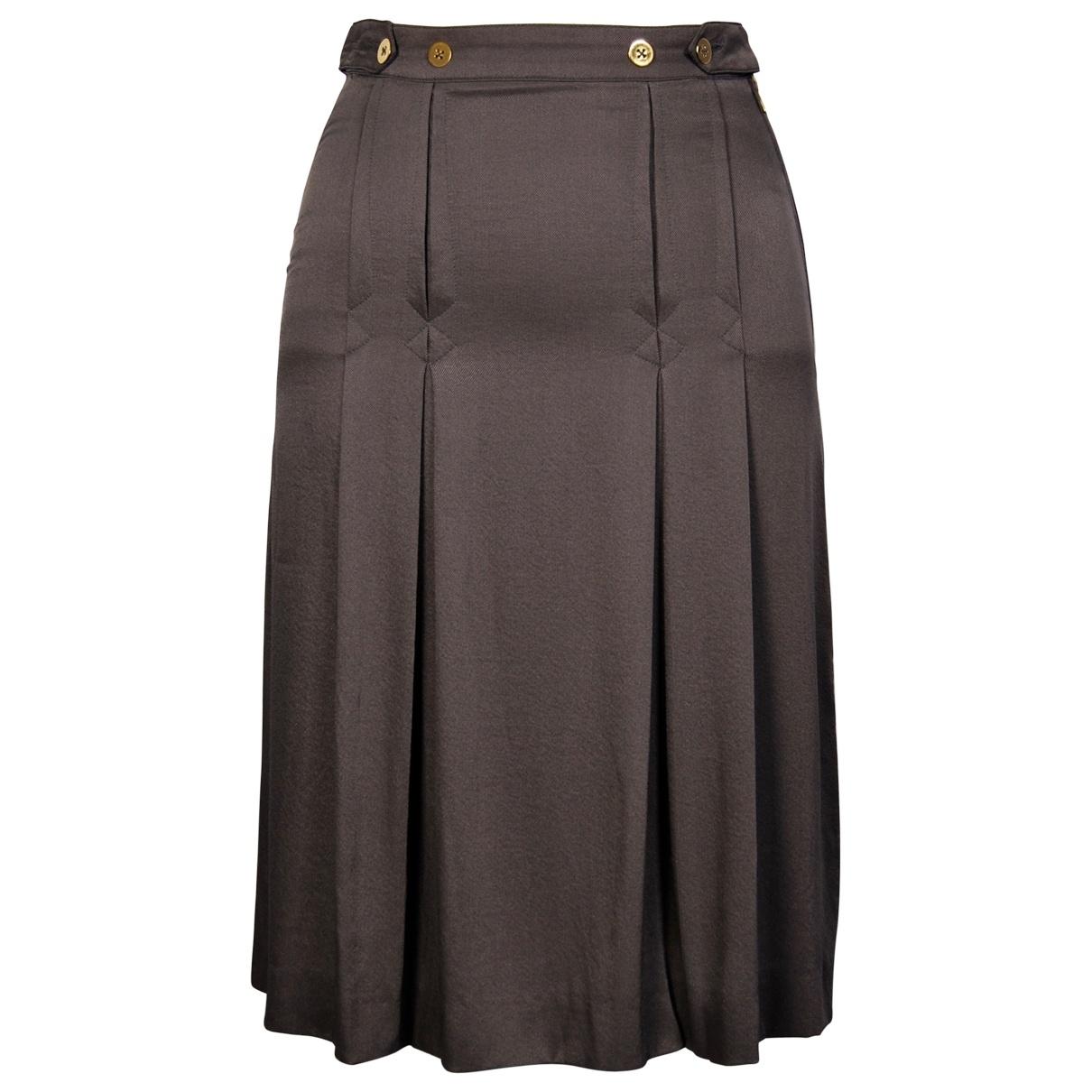 Balenciaga \N Grey Silk skirt for Women 36 FR