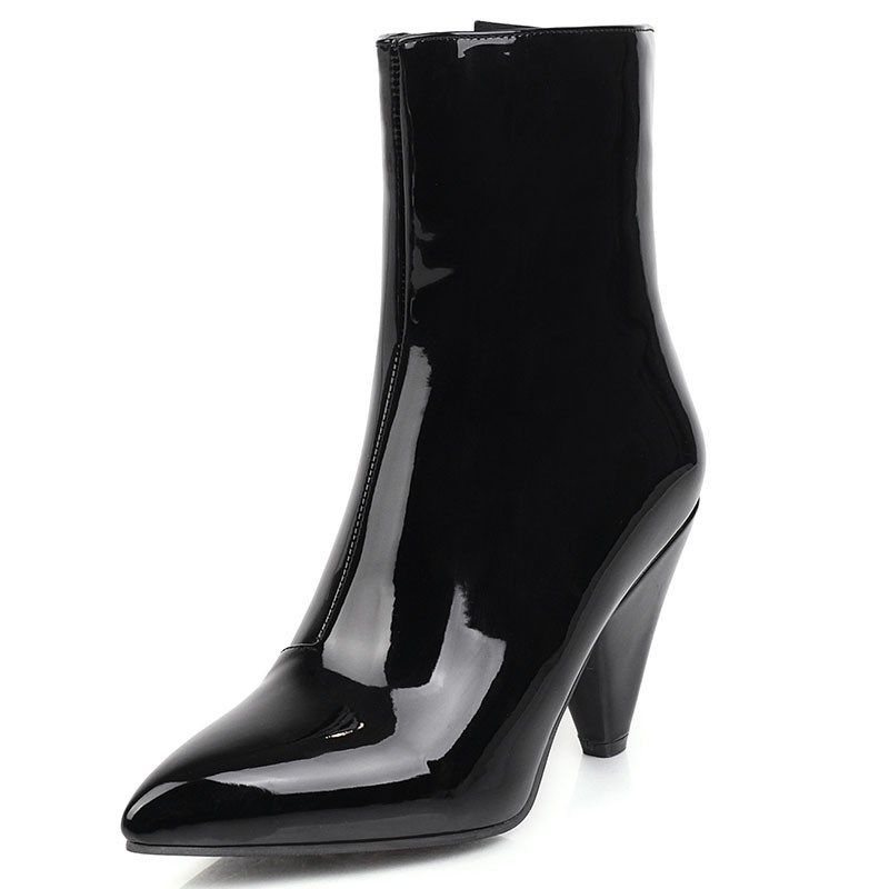 Ericdress Plain Side Zipper Pointed Toe Sexy Boots