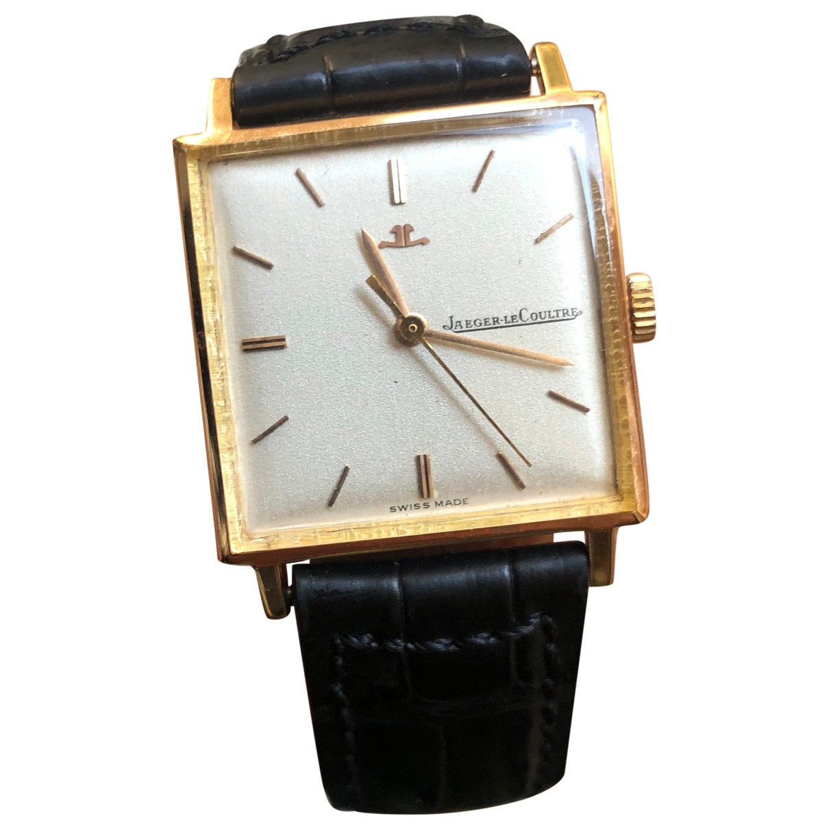 Jaeger-lecoultre Vintage Black Yellow gold watch for Women \N