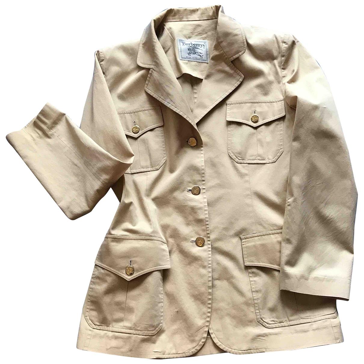 Burberry \N Beige Cotton jacket for Women 12 UK