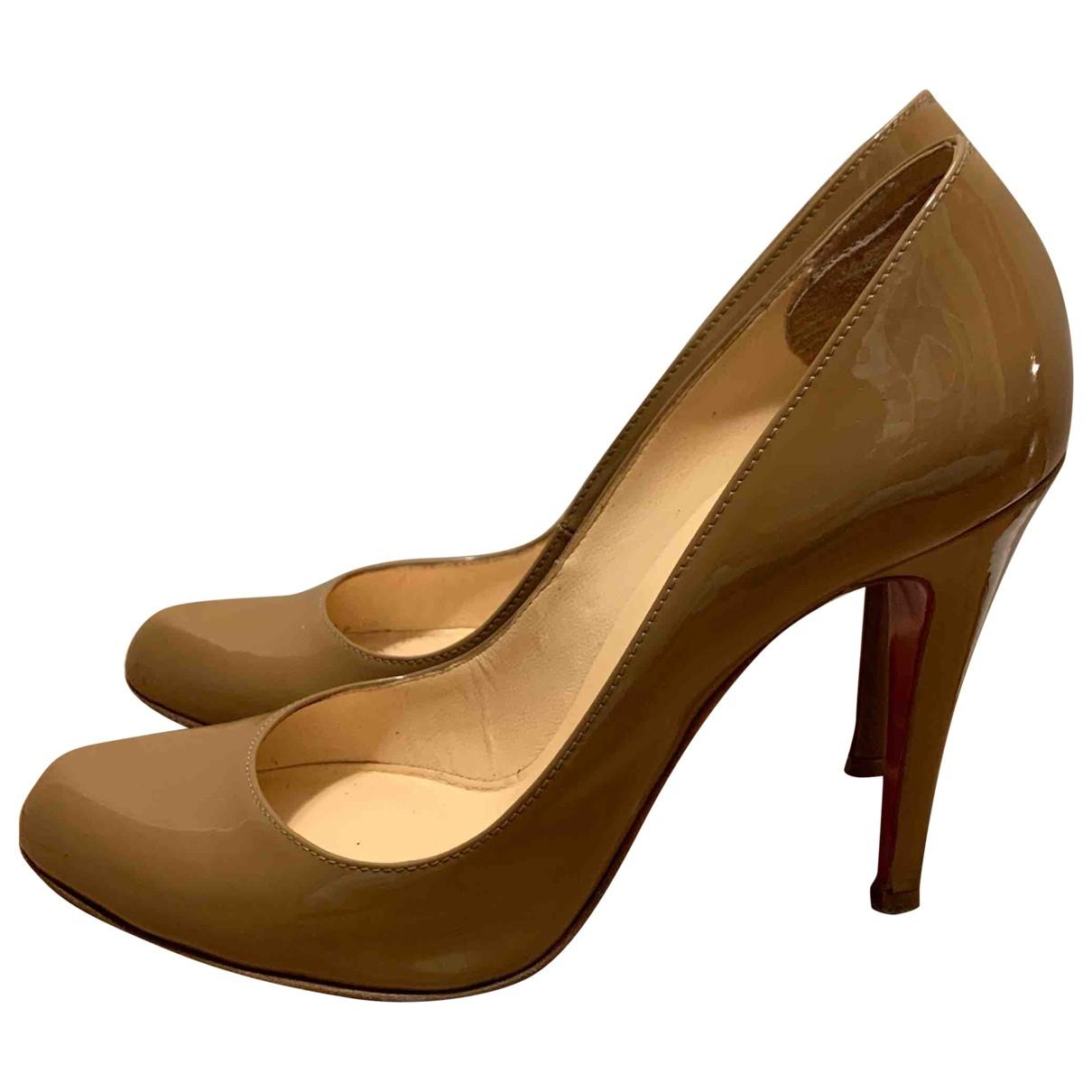 Christian Louboutin \N Camel Patent leather Heels for Women 36.5 EU