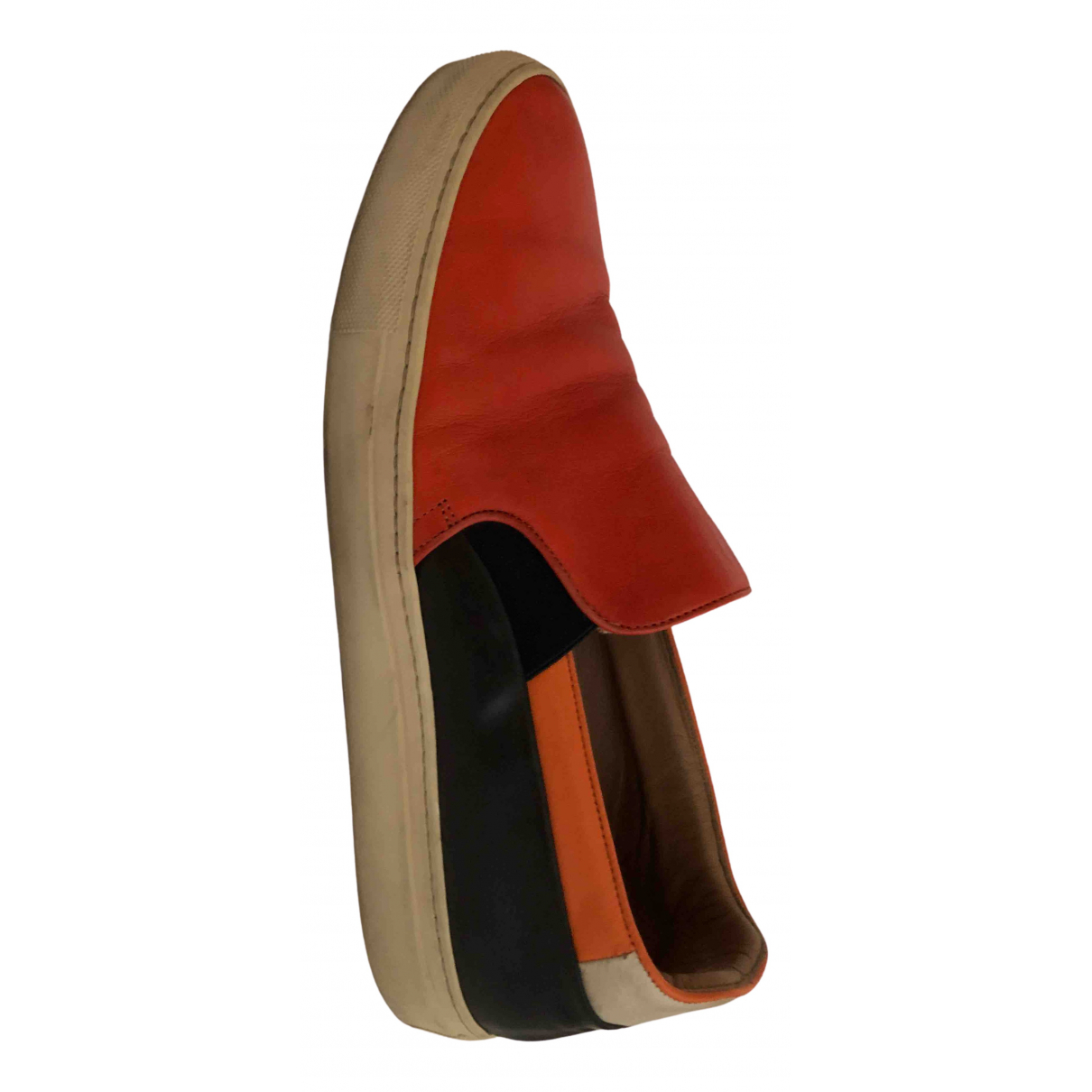 Paul Smith \N Orange Leather Flats for Men 42 EU