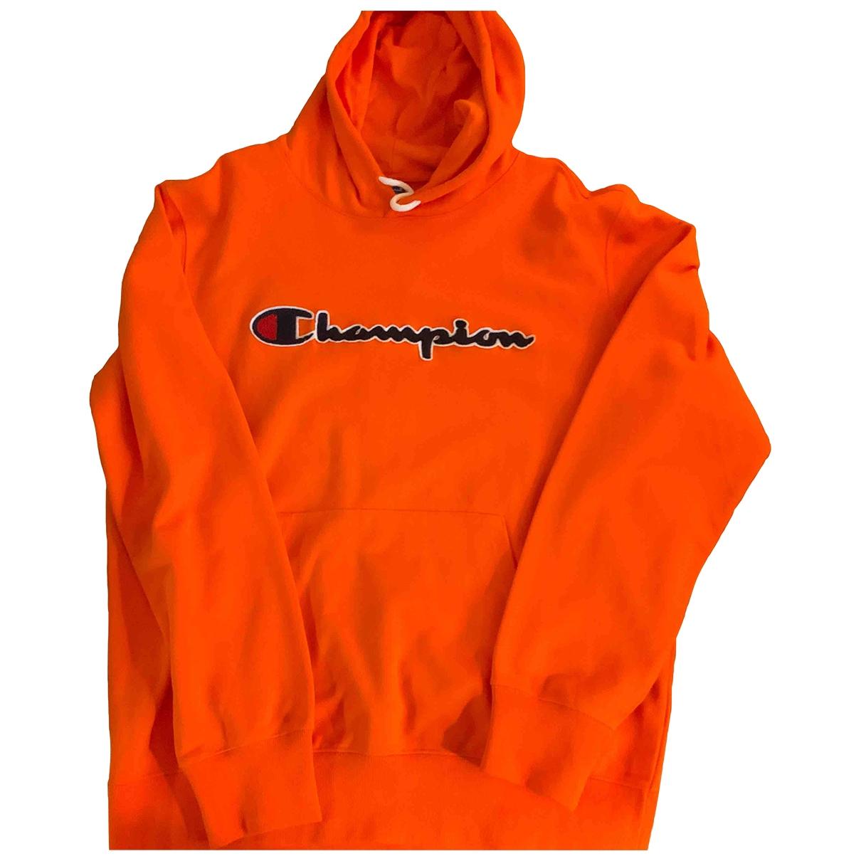 Champion \N Orange Cotton Knitwear & Sweatshirts for Men XL International