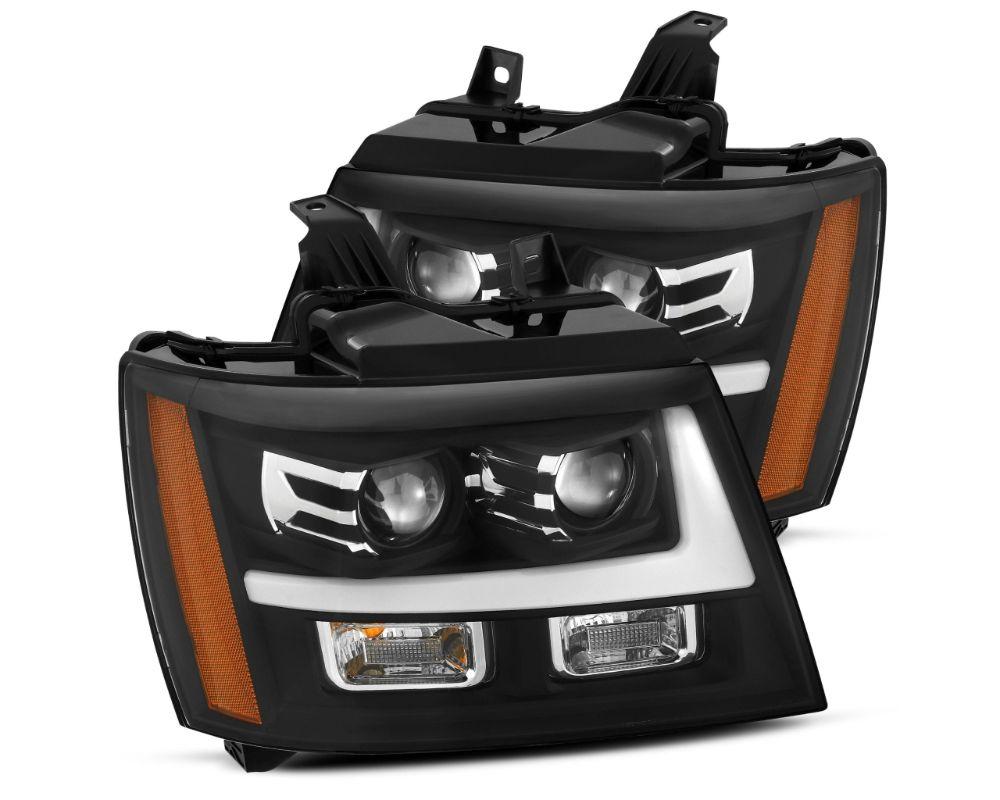 Alpharex USA Pro-series Projector Headlights Black Chevrolet Avalanche 2007-2013 | Tahoe | Suburban 2007-2014