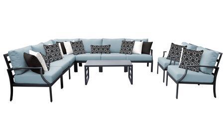 Lexington LEXINGTON-10a-SPA 10-Piece Aluminum Patio Set 10a with 1 Left Arm Chair  1 Right Arm Chair  1 Corner Chair  4 Armless Chairs  2 Club Chairs